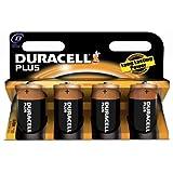 Duracell Plus MN1300 Alkaline D Batteries - 4-Pack