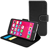 Snugg iPhone 6 Flip Case - Leather Wallet Case with Lifetime Guarantee (Black) for Apple iPhone 6