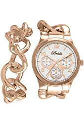 Breda Women's 7224-rose gold .BR Penelope Oversized Chain Band Set Watch