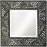 Chisel Arts Wooden Green Leaf Decorative Wall Mirror Frame