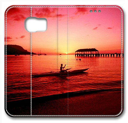 Hanalei Kayaker Hawaii Leather Cover For Samsung Galaxy S6(Compatible With Verizon,AT&T,Sprint,T Mobile,Unlocked,Internatinal) coupon codes 2016