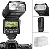 Altura Photo Professional I-TTL Auto-Focus Dedicated Flash (AP-N1001) for NIKON DSLR Cameras including D3200 D3100 D3000 D3300 D5000 D5100 D5200 D5300 D7000 D7100 D200 D300 D600 D610 D700 D750 D800 + Flash Stand + Protective Pouch + Hard Diffuser