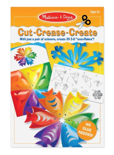 Melissa & Doug Cut-Crease-Create Snowflakes Play Set