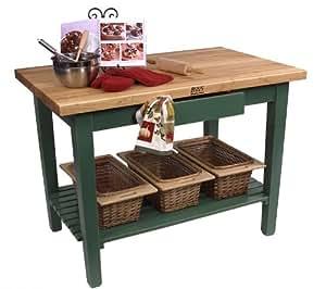 John Boos C3624 - 1Shelf John Boos Kitchen Island Work Table 36x24 inches - 1 Shelf