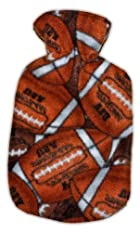 Warm Tradition Football Fleece Covered Hot Water Bottle - Bottle made in Germany, Cover made in USA