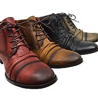 [FRANCO GIOVANNI]メンズブーツ ドレープブーツ サイドジッパー 靴 fg131