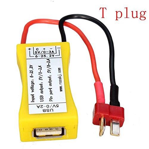 Bluelover spina T Funzione 2S-6S Lipo a USB all'adattatore del convertitore di alimentazione con UBEC LED
