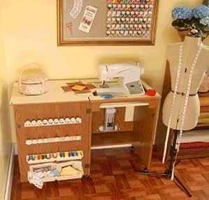Mobiletto per macchina da cucire sewnatra rovere casa e cucina - Mobiletto cucina amazon ...