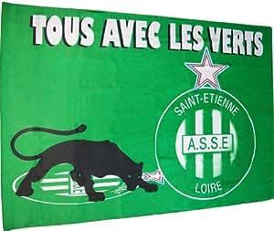 Drapeau - Collection officielle - Football AS SAINT ETIENNE - ASSE - Ligue 1 - 140 x 100 cm
