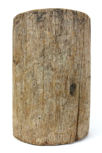 Farang Antique Thai wooden mortar - straight sides
