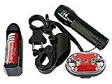 LED Cree Q5 Bike Fahrrad Fahrradlampe 500LM Bicycle Lamp Fahrradlicht +5 LED Rückleuchte NG7014