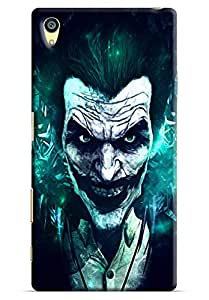 Omnam Horror Printed Back Cover with smiling mask for Sony Xperia Z5 Premium