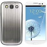 kwmobile Hardcase Hülle für Samsung Galaxy S3 / S3 Neo - Hartschale Backcover Case Schutzhülle aus gebürstetem Aluminium in Silber