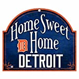 51ootXWlHqL. SL160  MLB Detroit Tigers 10 by 11 Wood Home Sweet Home Sign