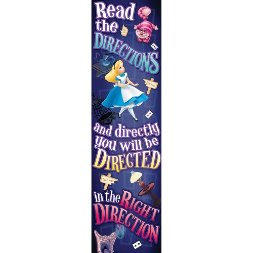 Learn More About Eureka Alice In Wonderland Directions Vertical Banner