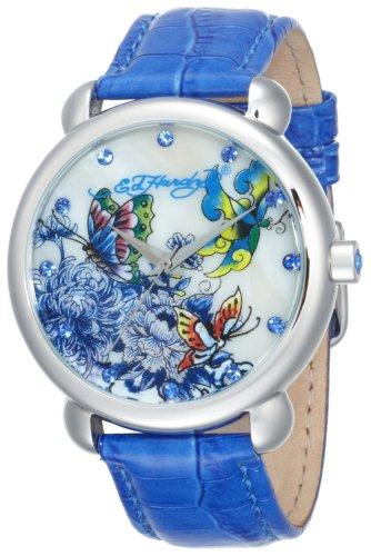 Ed Hardy Women's GN-BL Garden Blue Watch