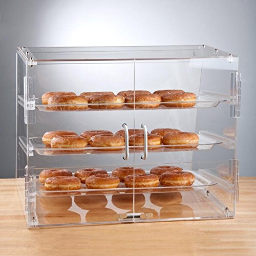 Premier Choice 3 Tray Bakery Display Case with Doors Length: 21