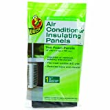 Duck Brand 1286294 Air Conditioner Foam Insulating Panels, 18-Inch by 9-Inch by 7/8-Inch Each, Pack of 2 Panels