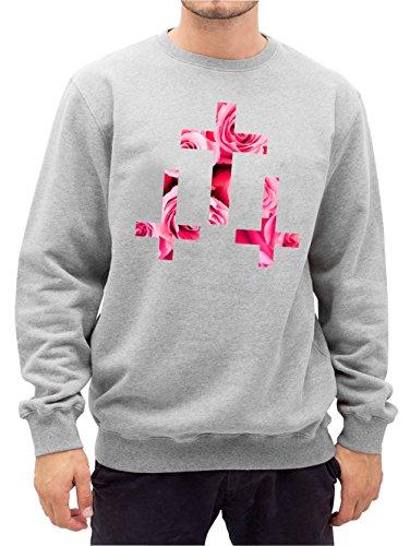 Crosses Roses Sweater Grigio Certified Freak-M