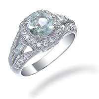 Vir Jewels Sterling Silver Green Amethyst Ring (0.80 CT) by Vir Jewels