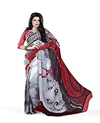 Morpankh enterprise White Georgette Saree ( 006 SATYA PALU )