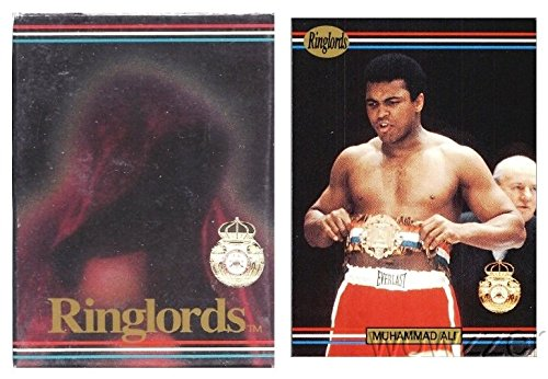 1991 Ringlords Boxing Complete Factory Sealed 50 Card Set Featuring the GREATEST Muhammad Ali! Vintage Set 25 Years old also includes Boxing Legends Lennox Lewis, Evander Holyfield, Julio Cesar Chavaz (Boxing Highlights compare prices)