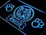 Enseigne Lumineuse j974 b Westie Paw Print Dog Pet Shop Neon Light Sign