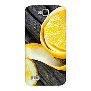 Cute Orange Peal Blackish Back Case Cover for Honor Holly