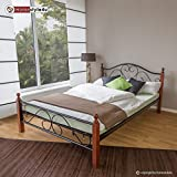 Homestyle4u Metallbett 140 x 200 Bettgestell Doppelbett Bettrahmen
