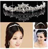 Silver Plated Crystal Wedding Bridal Headband Tiara Hair Band Prom Fashion
