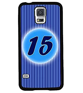 Fuson 2D Printed Numerology Designer back case cover for Samsung Galaxy S5 - D4233