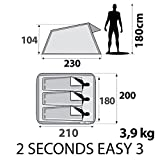 Quechua 2 Seconds Pop Up Easy-to-carry 3 Persons Tent, Green
