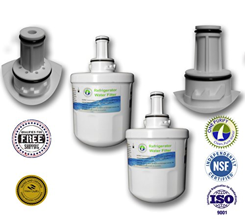 2 Pack - Onepurify Water Filter To Replace Samsung, Whirlpool, After 2010 Models (3-Notch), Aqua Pure, Aqua Pure Plus, Da29-00003, Da29-00003A, Da29-00003A-B, Da29-00003B, Da29-0003B, Da2900003A, Da2900003B, Da61-00159, Da61-00159A, Da61-00159A-B, Da61-15 front-77585