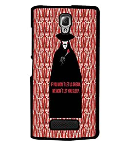 PrintDhaba Quote D-4734 Back Case Cover for LENOVO A2010 (Multi-Coloured)