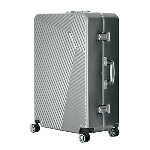 LEGEND WALKER PREMIUM GRAND PYRAMID ピラミッド スーツケース ハードケース キャリーケース 4輪 TSAロック 90L 5602-71 (シルバー)