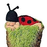 Museya Niedliche Käfer Style Baby Kleinkinder Neugeborenen Handarbeit häkeln Mütze Hut Kleidung Baby Foto Props