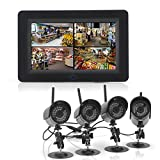 Express Electrics 2.4GHz Wireless Digital Security Video System 7 Inch LCD 4 Channel Monitor 4x Cameras Night Vision Remote Control Support
