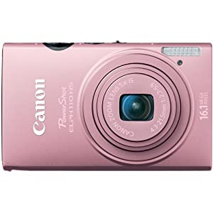 Canon PowerShot ELPH 110 HS 16.1 MP CMOS Digital Camera with 5x Optical Image Stabilized Zoom 24mm Wide-Angle Lens and 1080p Full HD Video Recording (Pink)