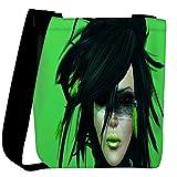 Snoogg Green Feather Girl Designer Womens Carry Around Cross Body Tote Handbag Sling Bags