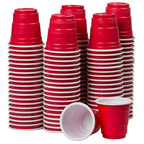 120ct Mini Red Cups 2oz Plastic Disposable Shot Glasses Party Shooter Beer Pong Jello (Mini Solo Cups compare prices)