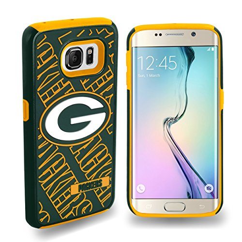 Forever Collectibles Samsung Galaxy S6 Edge Licensed NFL Dual Hybrid Case 2-Piece Green Bay Packers