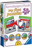 Ravensburger 07332 - Einsatzfahrzeuge - 9 x 2 Teile Puzzle