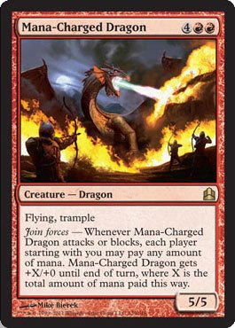 Magic: the Gathering - Mana-Charged Dragon - Commander - 1