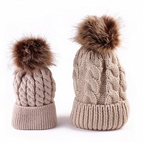 2pcs-cute-mother-and-baby-parent-child-hats-toddler-kids-boys-girls-knitted-crochet-beanie-winter-wa