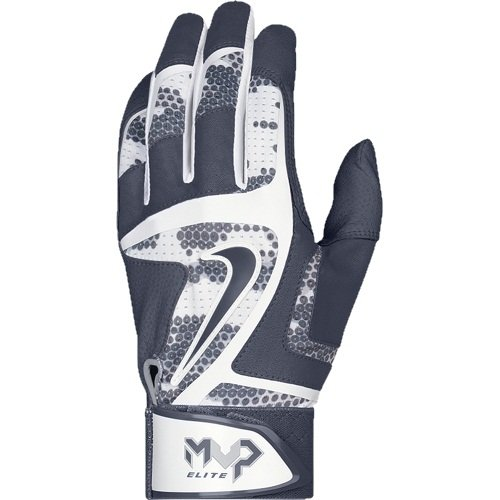 Nike GB0401-100 MVP Elite Batting Glove - Navy/White - Small (Customized Nike Elites compare prices)