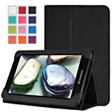 MoKo Slim Folding Cover Case for Lenovo IdeaTab A3000 7-inch Android Tablet, BLACK