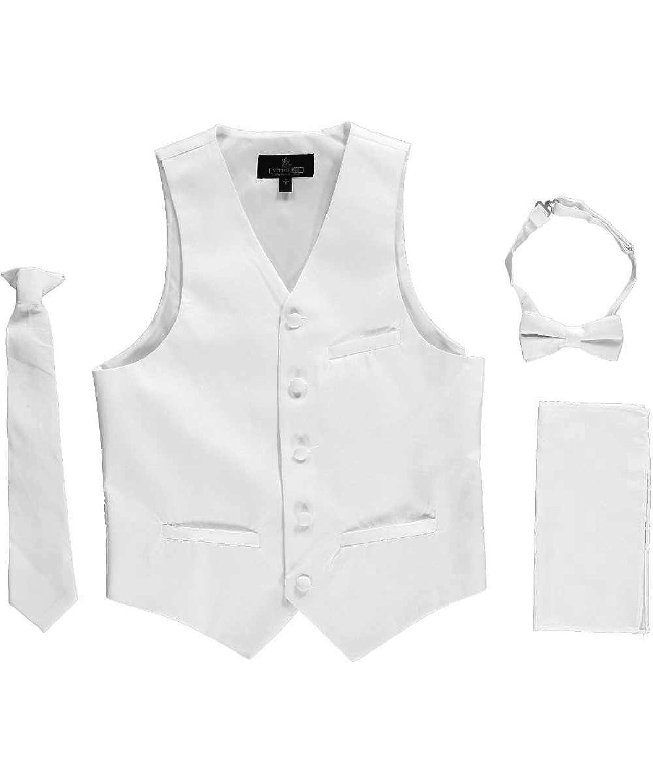 Vittorino Little Boys' 4-Piece Vest & Accessories Set pogo club little girls 3 piece quilted vest set