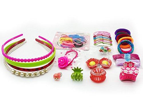 KIDSTAB 35 Pcs Premium Hair Accessories Fashion clips Hair band Head band Clutches hair pin hair rubber gift for girl