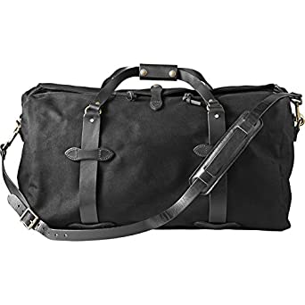 Filson Medium Water Resistant Duffle Bag (Black) 70222