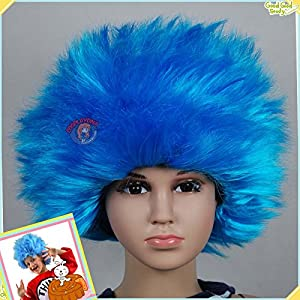 BLISS PRO's Thing 1 Thing 2 Children's Wig Kids Aqua Boys Girls STRAIGHT Wig Child